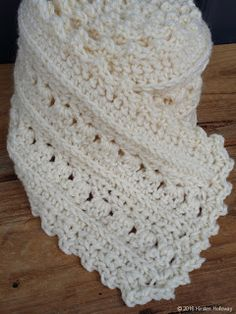 Super Scarf Pattern: Primrose and Proper Materials needed: (J) hook yards of worsted weight yarn (for a scarf that is about 6 wide) I recommend Red Heart With. Crochet Beanie, Knit Or Crochet, Crochet Scarves, Crochet Shawl, Crochet Crafts, Crochet Clothes, Crochet Stitches, Crochet Baby, Crochet Projects