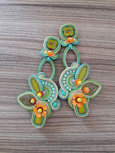 Soutache by Inga Soutache Bracelet, Soutache Jewelry, Shibori, Turquoise Bracelet, Handmade, Instagram, Amazing, Accessories, Earrings