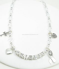 Lung Cancer Awareness Necklace