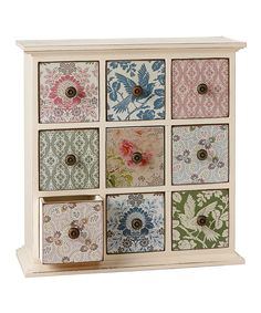 Look at this Vintage Floral Dresser on #zulily today!