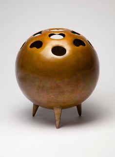 Gio Ponti, patinated copper vase, 1951, Italy