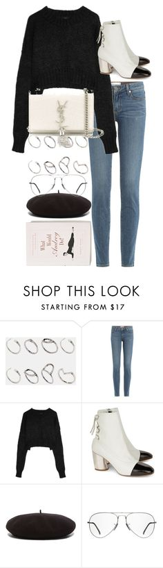 """""""Untitled #9780"""" by nikka-phillips ❤ liked on Polyvore featuring ASOS, Anthropologie, Paige Denim, Dolce&Gabbana, Proenza Schouler, Yves Saint Laurent and Ray-Ban"""