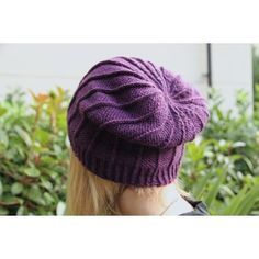 A nice and quick little hat with very little purling, don't let the photos trick you! You need to know knit and purl through back loop It uses 50-100 g of a DK or worsted weight yarn depending on how much of a slouch you want.