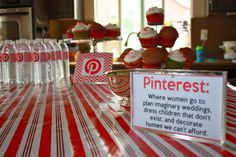 "LOVE THIS!!!! This would be amazing for a December Craft Night!!!! A ""Holiday Pinterest Party!"" It's a Christmas Party that has a bunch of different craft stations that were influenced by Pinterest! Wine bottle decorating, create an ornament, Mod Podge photos onto wood... The choices are endless!!! I am so doing this someday!!!"