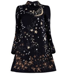 VALENTINO Embroidered Galaxy Dress