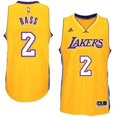 Los Angeles Lakers #2 Brandon Bass adidas Gold New Swingman Home Jersey