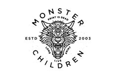 Monster Children Dire Wolf & King Crow Logos. Steely is amazing.