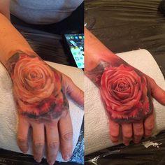 Realism tattoo on hand (palm) by Ivan Beloborodov