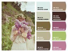 """""""Lilacs"""" - Color Palette Inspiration Chip It! by Sherwin-Williams – Home Paint Color Palettes, Paint Color Schemes, Exterior Paint Colors For House, Paint Colors For Home, Color Boards, Lilac Color, Playrooms, Colour Inspiration, World Of Color"""