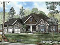 Home Plans HOMEPW19212 - 5,723 Square Feet, 5 Bedroom 3 Bathroom French Country Home with 3 Garage Bays