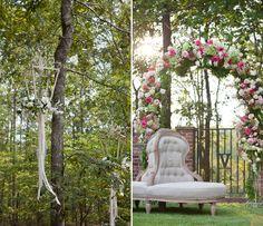 loving the flower arrangement ideas I'd chose different colors purple and white. [romantic wedding]