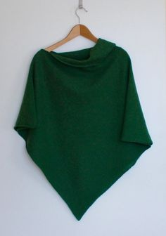 Hey, I found this really awesome Etsy listing at https://www.etsy.com/ca/listing/234085022/poncho-soft-merino-lambswool-turf-green