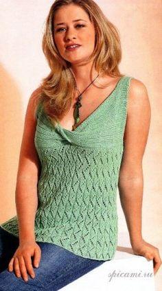 Летняя жара - запись пользователя МамаМарина (Марина Юрьевна) в сообществе Вязание спицами в категории Вязание для женщин спицами. Схемы вязания спицами