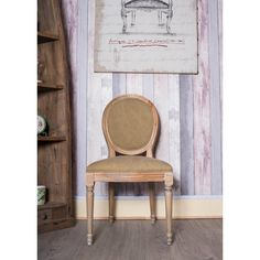 French Louis Side Chair Oak Brown Tan Shabby Chic Antique Style Bedroom Hall Dining Ocassional - Seating from Chicmyhome UK Side Chairs, Dining Chairs, Shabby Chic Antiques, French, Bedroom, Brown, Furniture, Home Decor, Style
