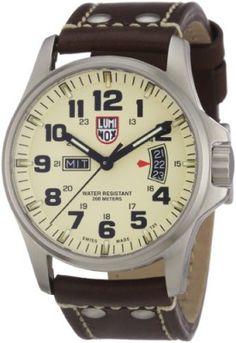 056d19cd67c Relógio Luminox Field 42mm 1827 Ivory Dial Brown Leather Mens Watch  Relogio   Luminox Relógios