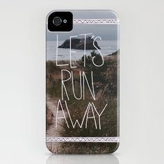 iphone case -Let's Run Away V by Leah Flores