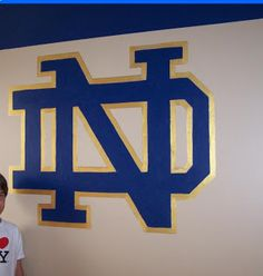 Captivating Notre Dame Theme Room | Artistic Murals: Boys Room Sports Murals Etc. Nice Look