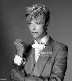 David Bowie is photographed in 1983 in Los Angeles, California.