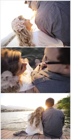 Sweet Row Boat Engagement by Kristin Rogers