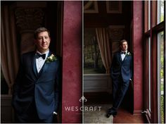 Michael looking dapper in the estate's dining room. Bay windows let in a striking bank of soft light.