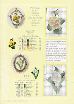 small pansy and lily for cards, tags