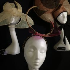 Featuring hats (from top left) by Katie Earley, Monique Lee and Chloe Haywood