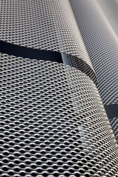 Expanded Metal Mesh, Building Skin, Steel Mesh, Facade Architecture, Fabric Textures, Festo, Tapas, Villa, Tech