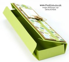 Stampin' Up! Demonstrator Pootles - Long Thin Tuck 'n Fold Box Tutorial using Coffee Break. Click through for more details and video tutorial!