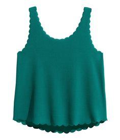 Tank Top with Scalloped Edges | H&M Divided