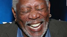 Actor Morgan Freeman laughs Thursday, April 30, as he takes part in a radio event hosted by SiriusXM in New York.