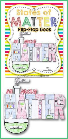 States of Matter Flip-Flap Book! Fun, Interactive, and Educational.... Thats what Science should be!$