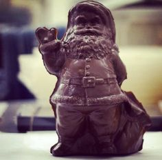 Our solid #chocolate #jolly #santa can't wait for #Christmas! #CerretaCandyCo #Glendale #Arizona