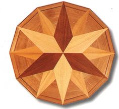 Floor medallion or table top Diy Wood Projects, Wood Crafts, Wood Floor Pattern, Intarsia Wood, Wood Parquet, Wood Mosaic, Pallet Art, Wood Patterns, Barn Quilts