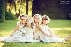 Beautiful Flower girls at a wedding, sunshine, summer wedding at Plum Park Hotel, Milton Keynes