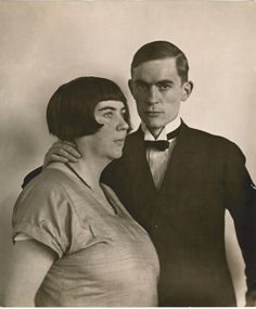 August Sanders. Anton und Marta 1925 [The Painter, Anton Räderscheidt and his wife Marta Hegemann c.1925]