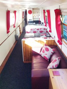 Canal boat interior. I took two trips on these while in England and ...