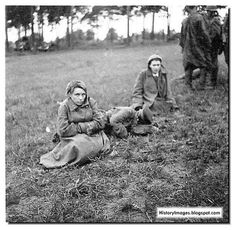 Captured women Red Army soldiers. One admires their courage.