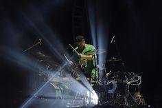 Shannon Leto, baterista do 30 Seconds to Mars, toca durante show da banda no Rock in Rio 2017 (Foto: Alexandre Durão/G1)
