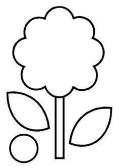 Gabarit - Fleur photo pour la fête des mamans
