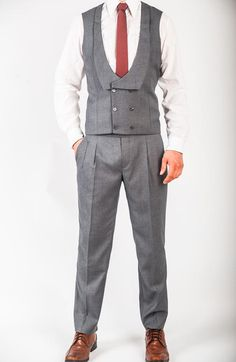 Original Three Piece Suit in Grey.