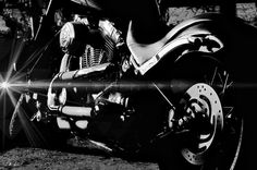 Davidson Harley,black And White Photograph by Jean Francois Gil