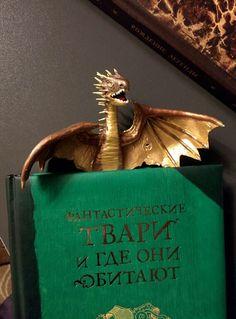 Купить Закладка в виде ожившего персонажа из книги: Норвежская Хвосторога - Гарри Поттер, дракон, закладка