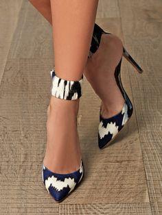 Fantasy-print ankle strap pumps from Altuzarra