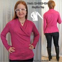BurdaStyle Magazine: 11-2011-114 Surplice Knit Top