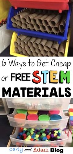 6 Ways to Get Cheap or Free Materials for Your Makerspace or STEM Lab — Carly and Adam Anchor Charts, Kindergarten Architecture, Kindergarten Stem, Stem Preschool, Stem Teacher, Stem For Kids, Stem For Preschoolers, Stem Projects For Kids, Stem Learning