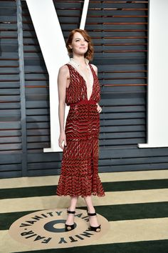 "Emma Stone in Altuzarra at the ""Vanity Fair"" Oscar Party"