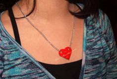 Heart Necklace  You Choose Color  made from Lego by MoLGifts, $9.95