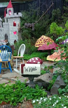 Alice In Wonderland Garden From Hudson Valley Community College Flower Show  2014