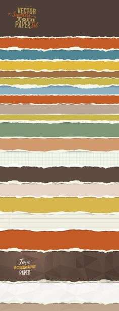 Torn Paper Set by Maniacs of Vector Art on @creativemarket