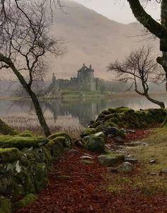 Kilchurn Castle, Lochawe, Argyll, Scotland - by Stephanie Alexander Ballard Scotland Castles, Scottish Castles, Beautiful Castles, Beautiful Places, Places To Travel, Places To See, Places Around The World, Around The Worlds, Fairy Pools